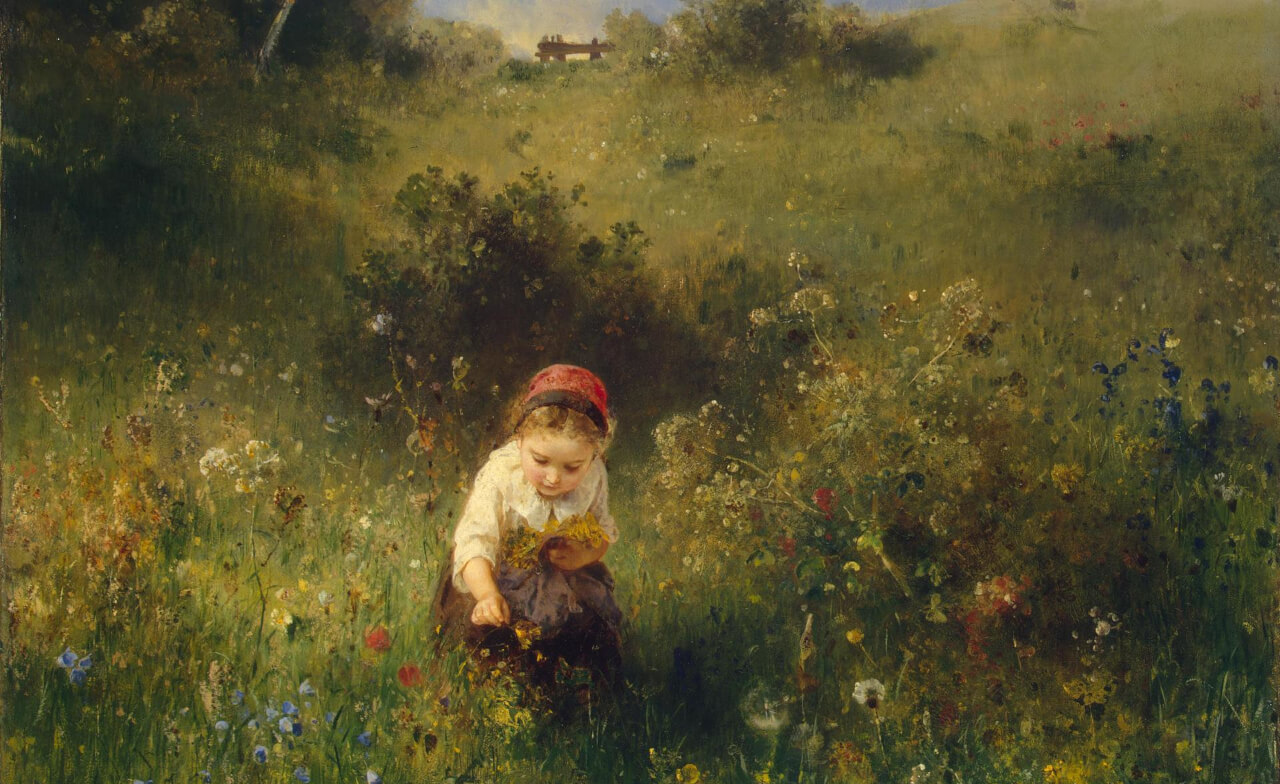 Ludwig Knaus - Girl in a field